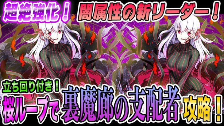 【裏魔廊攻略!】強化された桜ループを使って裏魔廊の支配者攻略!立ち回り付き!パズドラ Fateコラボ