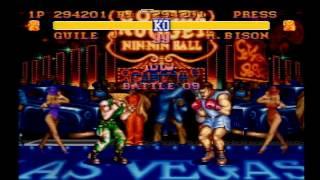 【ガイル(GUILE)VS M・バイソン(M.BISON) 】ストリートファイターⅡ (スーパーファミコン)